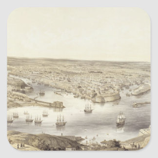 Sebastopol in All Its Glory, 1848, engraved by Day Square Sticker