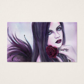 Sebina Angel gothic business card By Renee  Lavoie