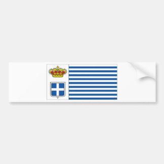 Seborga Flag Car Bumper Sticker