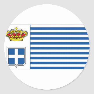 Seborga Flag Classic Round Sticker