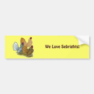 Sebright Rooster Assortment Bumper Sticker