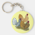 Sebright Rooster Assortment Keychain