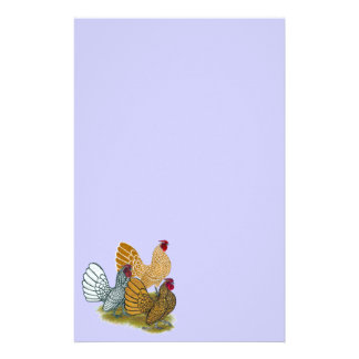 Sebright Rooster Assortment Personalized Stationery