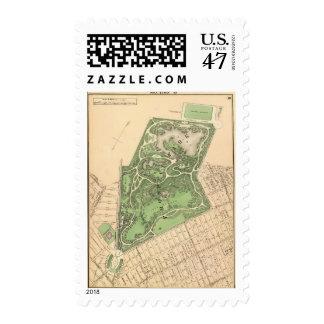 Sec 10 Brooklyn map Postage Stamp