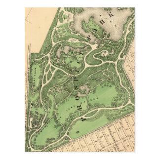 Sec 10 Brooklyn map Postcard