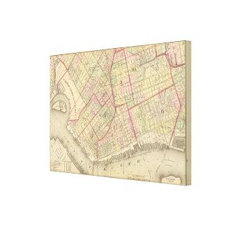 Sec 2 Brooklyn map Gallery Wrap Canvas