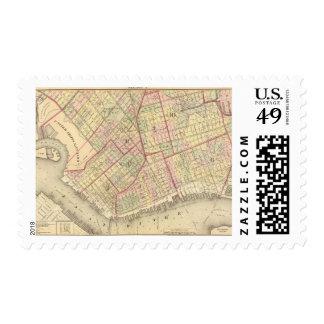 Sec 2 Brooklyn map Postage Stamp