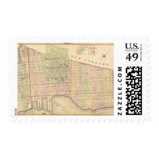 Sec 6 Brooklyn map Postage Stamp