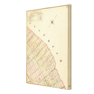 Sec 8 Brooklyn map Stretched Canvas Print