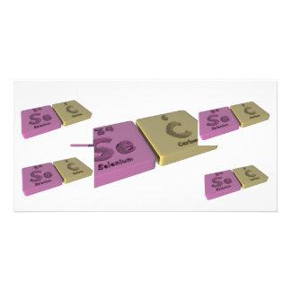Sec as Se Selenium and C Carbon Photo Card Template