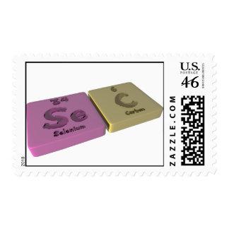 Sec as Se Selenium and C Carbon Stamp