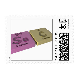 Sec as Se Selenium and C Carbon Postage Stamps