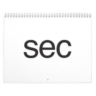 sec calendars