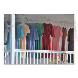 Secado del lavadero de Amish Tarjeta De Felicitación