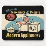 Secador retro de la lavadora del ama de casa tapete de ratones
