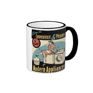 Secador retro de la lavadora del ama de casa taza de dos colores
