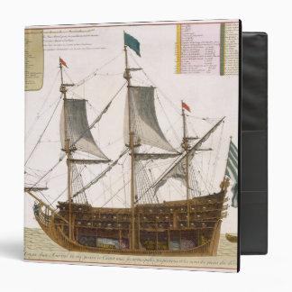 Sección a través de una nave de primer orden franc