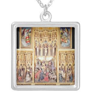 Sección central del Altarpiece de Ambierle Colgante Cuadrado