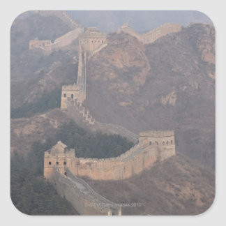 Sección de Jinshanling, Gran Muralla de China Pegatina Cuadrada