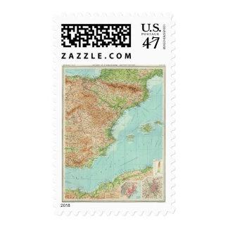 Sección del este de España y de Portugal Timbre Postal
