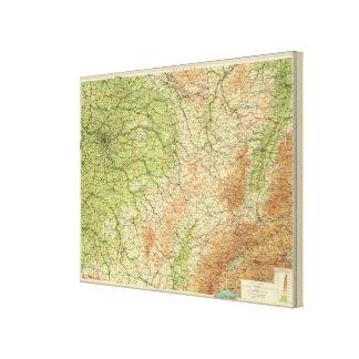 Sección del noreste de Francia, alrededores de Par Lona Envuelta Para Galerías