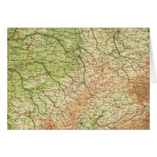 Sección del noreste de Francia, alrededores de Par Tarjeta De Felicitación