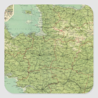 Sección del noroeste de Francia, alrededores de Pegatina Cuadrada