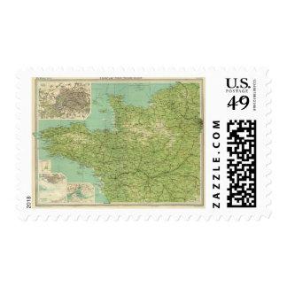 Sección del noroeste de Francia, alrededores de Timbre Postal