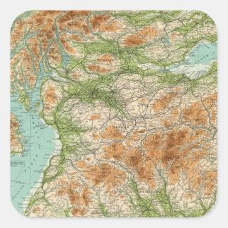 Sección del sur de Escocia Pegatina Cuadrada