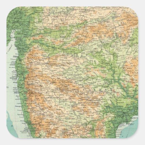 Sección del sur de la India Calcomanías Cuadradass