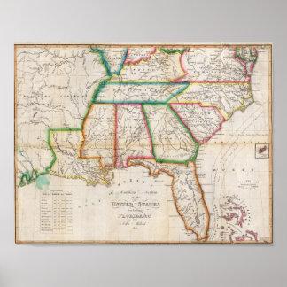 Sección del sur de los Estados Unidos Posters