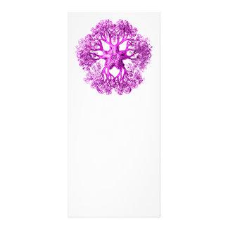 Sección del tentáculo en rosa tarjeta publicitaria