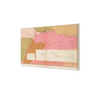 Sección horizontal de la veta de Comstock del sur Impresión En Lona