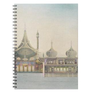 Sección longitudinal (L R) al órgano, sitio de la  Cuadernos