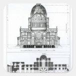 Sección representativa de la catedral de San Pablo Pegatina Cuadrada