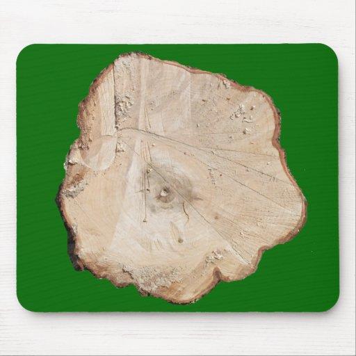 Sección representativa del árbol cortado Mousepad Alfombrillas De Raton