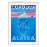 Sección representativa del iceberg - Cordova, Alas Tarjeta