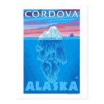 Sección representativa del iceberg - Cordova, Alas Tarjetas Postales