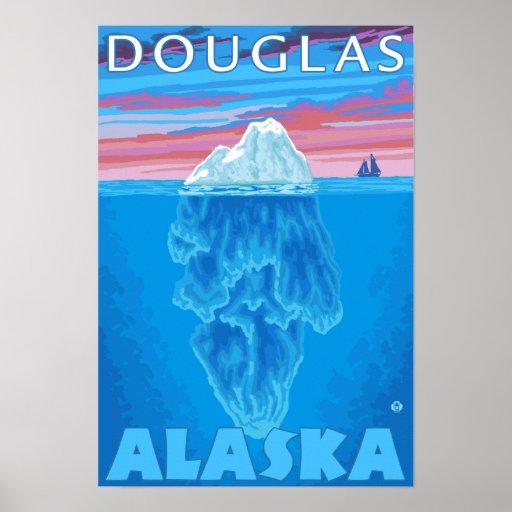 Sección representativa del iceberg - Douglas, Alas Posters