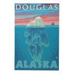 Sección representativa del iceberg - Douglas, Cuadro De Madera