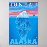 Sección representativa del iceberg - Juneau, Alask Poster