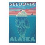 Sección representativa del iceberg - Seldovia, Cuadros De Madera