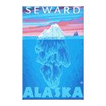 Sección representativa del iceberg - Seward, Alask Impresión En Lienzo