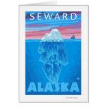 Sección representativa del iceberg - Seward, Alask Tarjeta De Felicitación
