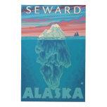 Sección representativa del iceberg - Seward, Impresión En Madera