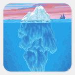 Sección representativa del iceberg - Seward, Pegatina Cuadrada