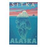 Sección representativa del iceberg - Sitka, Alaska Cuadro De Madera