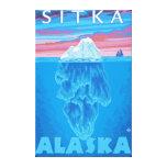 Sección representativa del iceberg - Sitka, Alaska Lienzo Envuelto Para Galerias