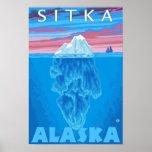 Sección representativa del iceberg - Sitka, Alaska Póster