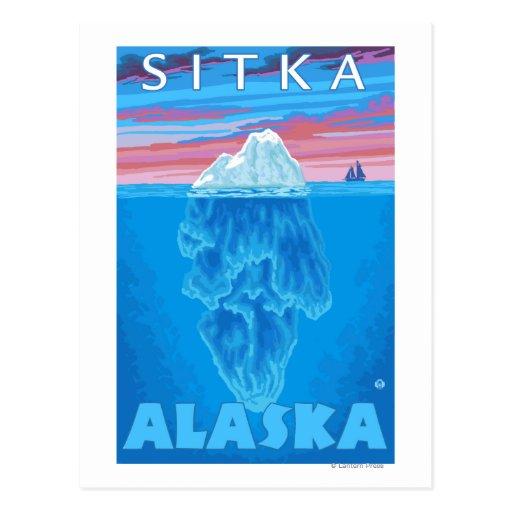 Sección representativa del iceberg - Sitka, Alaska Tarjeta Postal